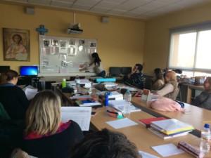 Professors en una sessió formativa de Competències Clau.