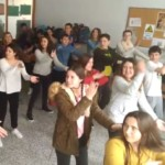 Participants en el taller Just Dance.